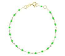 18kt yellow  Classic Gigi neon green beaded bracelet