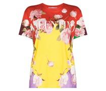 T-Shirt mit Flying Flowers-Print