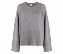 Pullover mit geripptem Einsatz