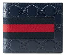 Portemonnaie mit Webstreifen