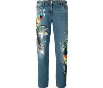 Jeans mit Paillettenverzierung