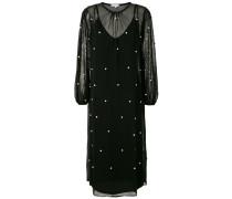 Kleid mit aufgestickten Kunstperlen