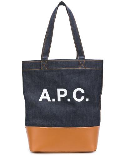 A.P.C. Herren A.P.C. front printed logo haldalls bag Verkauf Visum Zahlung Drop-Shipping Marktfähig Günstiger Preis ZpDEtN