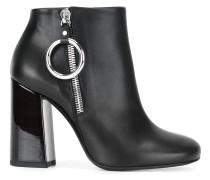 varnished heel ankle boots