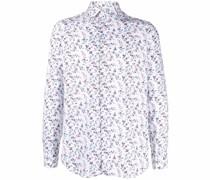 floral pattern button-up shirt