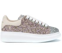 'Oversized' Sneakers mit Glitter-Effekt