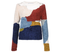 patch chenille pullover