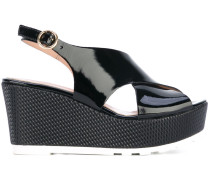 Wedge-Sandalen aus Lackleder - women