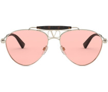 Getönte Pilotenbrille