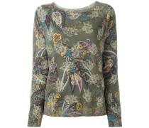 paisley print embellished jumper