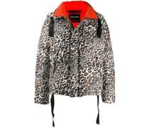 Daunenjacke mit Leoparden-Print