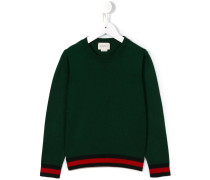 Pullover mit gestreiftem Saum - kids