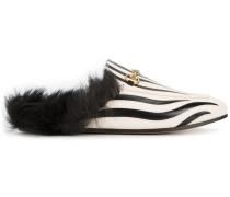 'Princetown' Slipper mit Zebra-Print - women