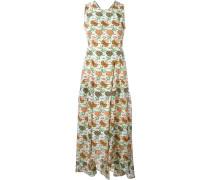 Rückenfreies Seidenkleid mit floralem Print