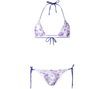 tie dye lace bikini