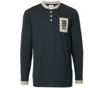 logo long-sleeve polo top
