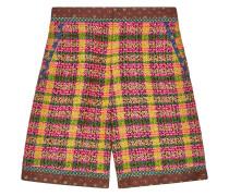 Karierte Tweed-Shorts