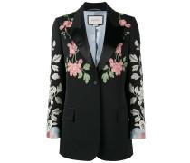 floral embroidered blazer - women