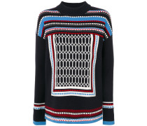 embroidered knitted sweater