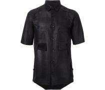 Lederhemd mit kurzen Ärmeln