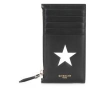 star print zipped cardholder
