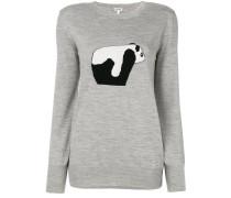 Wollpullover mit Pandamuster