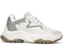 Wildleder-Sneakers mit Plateau