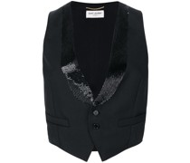 cropped fitted waistcoat