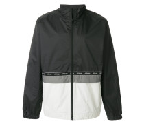 contrast panel fitted jacket