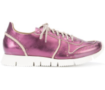 Sneakers mit Metallic-Effekt - women