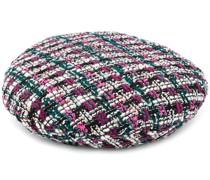 Tweed-Ballonmütze