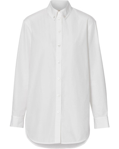 Button-down-Hemd mit Monogramm