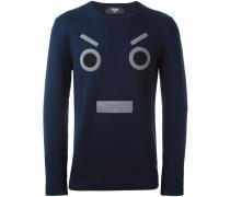 Sweatshirt mit aufgesticktem Gesichtsmotiv