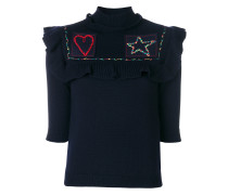 heart and star bib knitted top