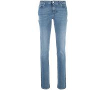 Skinny-Jeans mit Stern-Patch