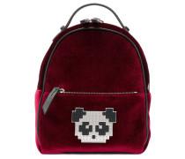 Rucksack mit Pixel-Panda-Patch