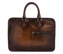 - zip detail briefcase - men - Leder