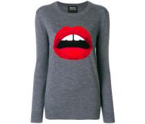 intarsia lips jumper