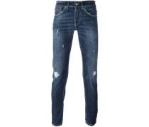 'George' Jeans in Distressed-Optik