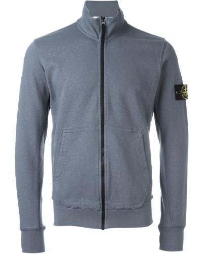 stone island herren sweatshirtjacke mit logo patch reduziert. Black Bedroom Furniture Sets. Home Design Ideas