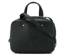 Kastige Handtasche mit Logo