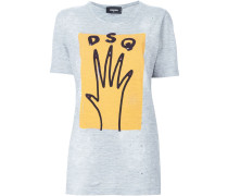 T-Shirt mit Hand-Print
