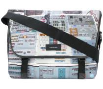 Schultertasche mit Schaltbrett-Print