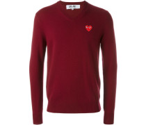 Pullover mit Logo-Patch - men - Wolle - S