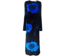 Langes Samt-Kleid