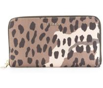 Portemonnaie mit Leoparden-Print