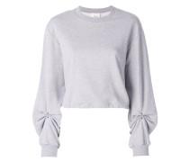 Sweatshirt mit gerafften Ärmeln