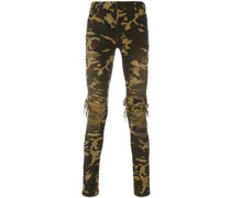 Camouflage-Hose in Distressed-Optik