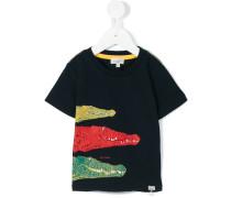 T-Shirt mit Krokodil-Print - kids - Baumwolle