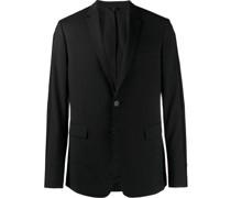 logo trim blazer jacket